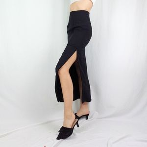 90's tailored skirt with side slit
